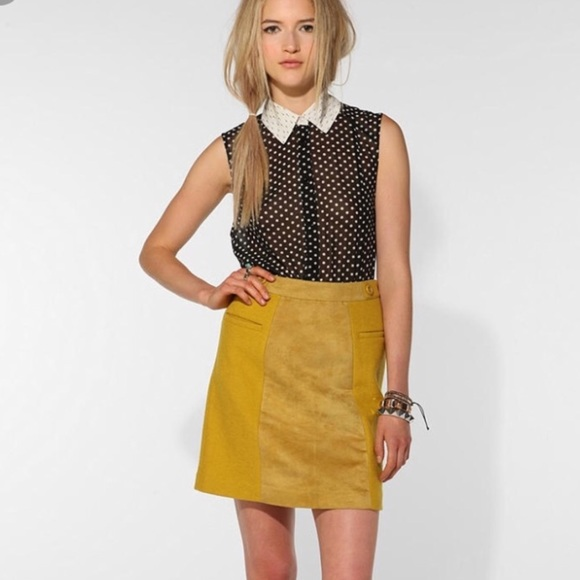 55724d8e2 Urban Outfitters Skirts | Yellow Cooperative Skirt | Poshmark